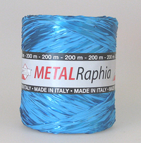 Metal raphia turkoosi 15mm/200m  MR35